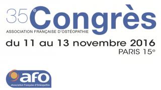 Congrès AFO sur les TMS du 11 au 13 novembre 2016