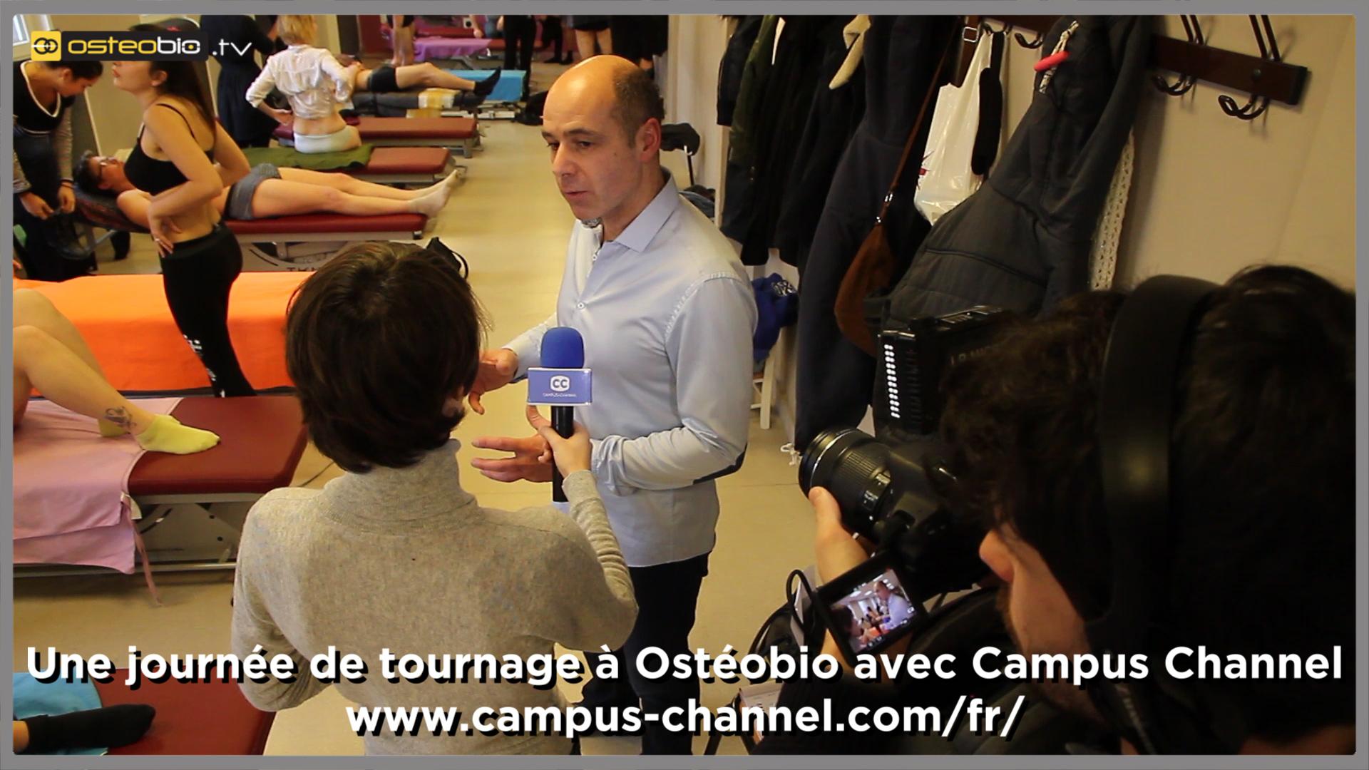 Une journée de tournage à Ostéobio avec Campus Channel